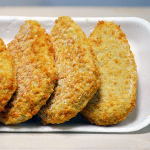 Crumb chicken steaklets